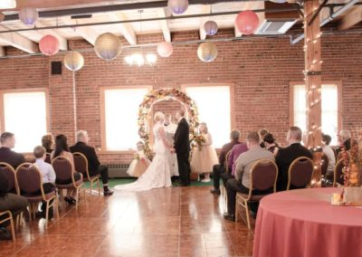Wedding Ceremony North Apothecary Loft Lincoln Haymarket Downtown